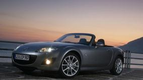 2009 Mazda MX-5 HeadLights On Near Sea Side